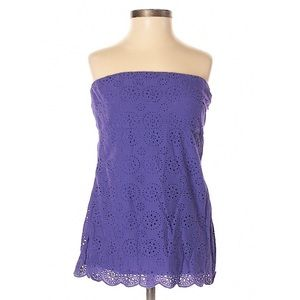 JCrew | Purple Floral Lace Tube Top